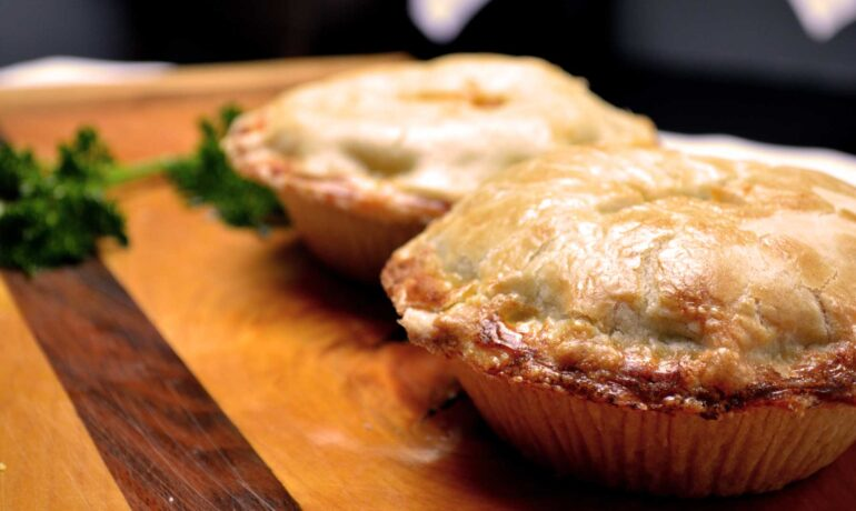 Curry Beef & Onion Pie