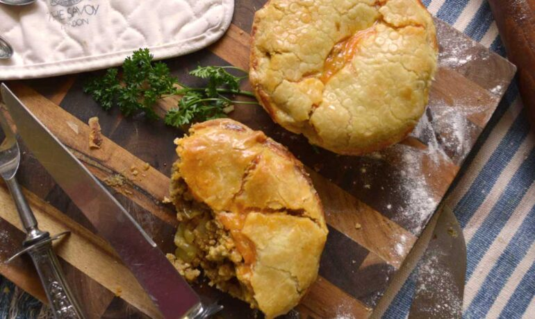 Spicy Meat & Onion Pie
